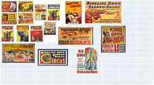 ho scale circus decals for your buildings and store front windows