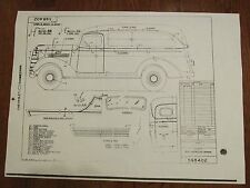 1938 Chevrolet Suburban or Sedan Delivery Factory Instructions on Body Striping
