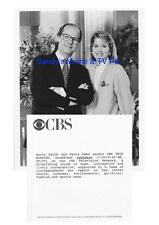 PAULA ZAHN, HARRY SMITH Terrific Original TV Photo CBS THIS MORNING