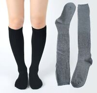 New Girls Womens Warm Cotton Slouch Knit Sweater Ankle High Socks Cheerleader