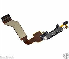 Iphone 4S USB Charging Charger Port Dock Block Connector Flex Cable Black Mic