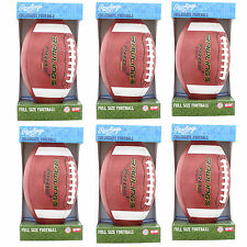 Lot of 6 Rawlings PRO5PR Official Licensed Leather Collegiate Full NFHS Football
