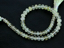 """8"""" Natural Green Prehnite Faceted Rondelle Gemstone Beads 4-5mm."""