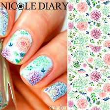 1 Sheet Nail Art Water Transfer Decal Manicure Sticker Leaves Flowers Design