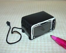 "Miniature Resin ""Toaster Oven"", BLACK for DOLLHOUSE 1/12 Scale Miniatures"