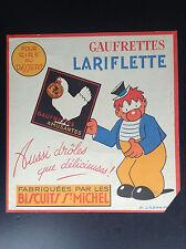 RARISSIME Publicité Lariflette Gaufrettes Biscuits Saint Michel LABORNE