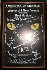 """*SUPER """"CATS"""" LOT* Framed & SIGNED 1981 Poster/Doll/Playbill/Program/Ticket/2 LP"""