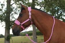 NEW Horse print fur padded headcollars halter + matching lead PINK PONY