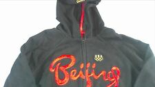 Roots Beijing China USA Olympics Jacket Hoodie Sweatshirt Lightweight Juniors L