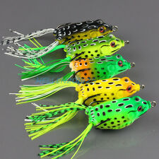 5pcs Topwater Frog Hollow Body Fishing Lure Crankbait Bass Hook Baits 13g/ 6cm