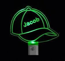 Kids Personalized Custom Baseball Cap LED Night Light - Sports night light -Gift