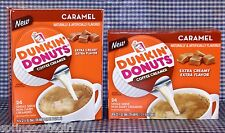 2 BOXES = 48 ct Dunkin Donuts CARAMEL Coffee Creamer Extra Creamy Single-Serve