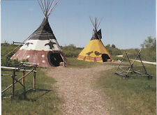 "*Postcard-""The 2 Teepees on Side of Country Road""   -Classic-"