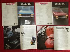 N°4657  / CHRYSLER 160 et 180 2 dépliants d'epoque  Simca