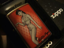 Hot Betty Page Pin Up Girl Zippo Lighter