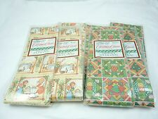 Mixed Lot of Vintage Christmas Wrapping Paper Gift Wrap 4 Packages of 25 sq ft