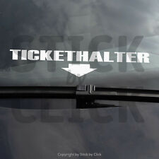 Tickethalter Sticker DUB Strafzettel auto Aufkleber JDM shocker Polizei haters