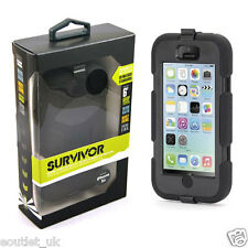 Griffin Survivor Military Duty Tough Case Cover For iPhone 5c - Black NEW