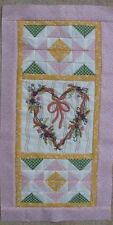 Precious - Hand Embroidery Mini Runner Quilt Pattern - Valentine's Day Heart