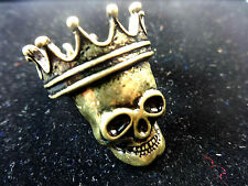COOL MENS RETRO BRONZE KING SKULL RING UNIQUE STUNNING GOTHIC COOL RETRO(A18)S/M
