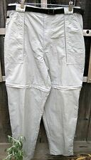 John Ashford Adventure 100% Nylon Khaki Convertible Shorts Pants Travel Men's L