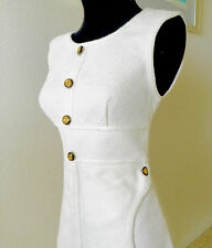 CHANEL LUXURY LINE MOST WANTED CAMELLIA SLEEVELESS OFF WHITE RARE PIECE $2500