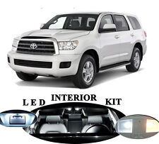 LED Package - Interior + License + Vanity + Reverse for Toyota Sequoia (19 Pcs)