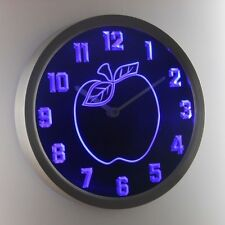 nc0969-b Apple Kitchen Decor Neon Sign LED Wall Clock
