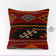 Handembroidered Pillow Decorative Vintage Kilim Pillowcase Turkish Cushion Cover