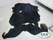 New Cowhide Rug Cowskin Cow Hide Leather Black and White 7282A
