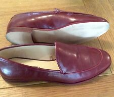 Zara Burgundy Flat Shoes Loafers Size 4/37 Worn Once Current Season