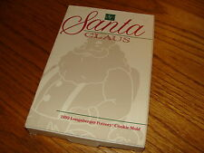 LONGABERGER POTTERY 1992 SANTA CLAUS CHRISTMAS COOKIE MOLD STORY RECEIPE