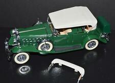 Danbury Mint 1/24 Die Cast Car 1932 Cadillac V-16 Convertible Green #2