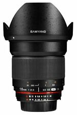 New Samyang 16mm F2.0 Ultra Wide Angle Lens for SLR & DSLR CAMERAS with Case