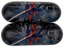 Lot 2 Marvel Amazing Spiderman Eye Sun Glasses Hard Case Licensed Black Kids NEW