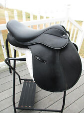 17.5'' R SYNTHETIC ENGLISH SADDLE STATE LINE TACK SADDLE  CC