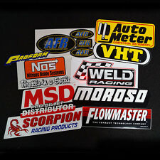 PERFORMANCE STICKER DECAL 10 PACK FORD HOLDEN CHEV DRAG RRACE V8 CAR HOT ROD