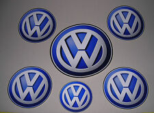 lot 4 Stickers Volkswagen 14 cm diamètre plat tunning autocollant Automobile