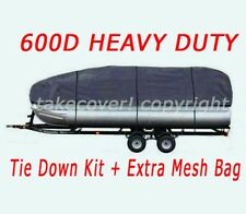DELUXE 25' 26' 27' 28' 600D Universal Trailerable Pontoon Boat Cover DG