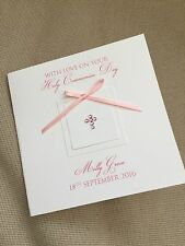 Handmade Personalised Christening Baptism Confirmation 1st Holy Communion Card