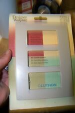 new Lutron SC-3-TP Claro Satin Screwless Wallplate 3 Gang in Taupe