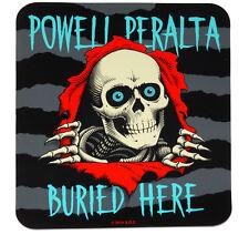 Powell peralta ripper enterré ici autocollant. skateboard concessionnaire double face vitre
