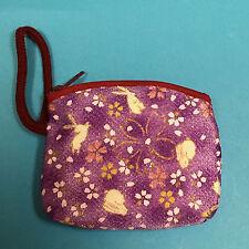 F/S Chirimen Kimono Crepe Fablic Handy Pouch Strap Cute Kawaii Kyoto Japan B