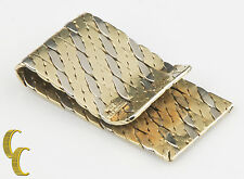 Tiffany & Co. Vintage 18k Yellow and White Gold Rope Design Money Clip Italy