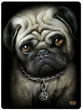 Spiral Direct 'PUG LIFE' FLEECE BLANKET Gift/Dog/Funny/Cut/Goth/Throw Blanket