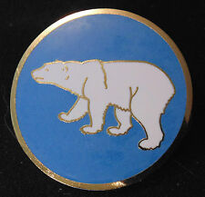 CANADA CANADIAN ARMED FORCES Northern Command polar bear metal enameled badge