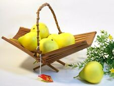 Centerpice Wood Fruit or Vegetable Basket / Handmade Foldable Display Stand