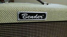 Custom Bender Fender Parody Amplifier Amp Face Plate Lasered Aluminum Tag