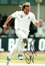 Ryan SIDEBOTTOM Signed Autograph 12x8 Photo AFTAL COA England Bowler CRICKET