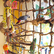 Parrot Birds Pet Rope Net Swing Ladder Chew Toys Parakeet Climbing Net Play Gym